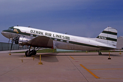 Ozark Air Lines, N763A, Douglas DC3(C), msn 4894, Photo by Derek Hellman, Image A019LGDH