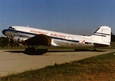 Piedmont Airlines, N44V, DC-47, msn 4747, Photo by John A. Miller, INT, Image A001LGJM