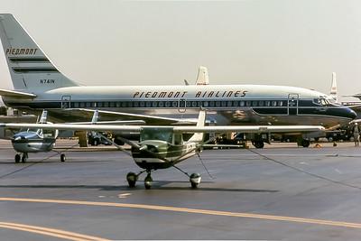 Piedmont Airlines, N741N, Boeing 737-201, msn 20211, Photo by Roger Bentley, Image J115RGRB
