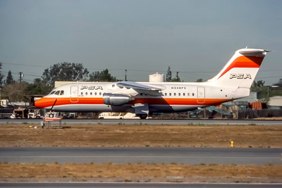 PSA, N348PS, Bae146-200, msn E2024, Photo by J. Fernandez Collection, Image W020LGJF