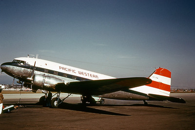 Pacific Western Airlines, CF-PWI, Douglas DC-3A, msn 4880, Photo by Dean Slaybaugh, Image A017LGDS