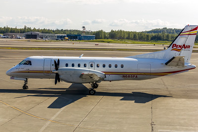PenAir (Peninsula Airways), N685PA, Saab 340B, msn 340B-212,  Photo by John A. Miller, ANC, Image GG013LGJM