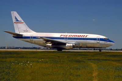 Piedmont Airlines, N741N, Boeing 737-201, msn 20211, Photo by Dean Slaybaugh, Image J078RGDS