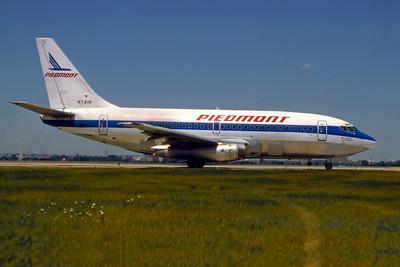 Piedmont Airlines, N741N, Boeing 737-201, msn 20211, Photo by Dean Slaybaugh, Image J078RGDS