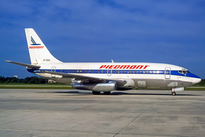 Piedmont Airlines, N738N, Boeing 737-201, msn 19422, Photo by Dean Slaybaugh, Image J076RGDS