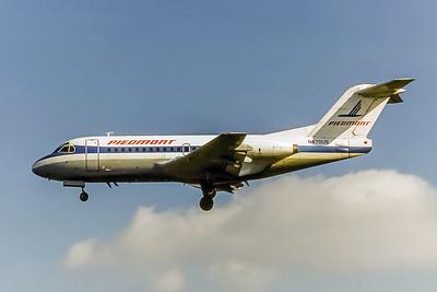 Piedmont Airlines, N470US, Fokker F28-1000, msn 11098, Photo by Nigel Chalcraft, Image F011LANC