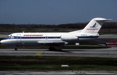 Piedmont Airlines, N281N, F28-1000, msn 11075, Photo by John Stewart, Image F017LGJS