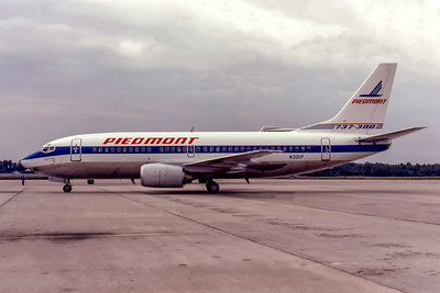 Piedmont Airlines, N301P, Boeing 737-301, msn 23228, Photo by Donald Schendel, Image K141LGDO
