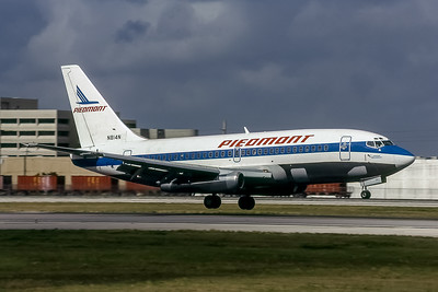 Piedmont Airlines, N814N, Boeing 737-201(ADV), msn 22962, Photo by Doug Corrigan, Image J127RGDC