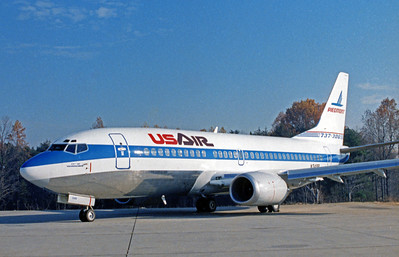 Piedmont USAir, City of Indianapolis, N349P, Boeing 737-301,  msn 23560, INT