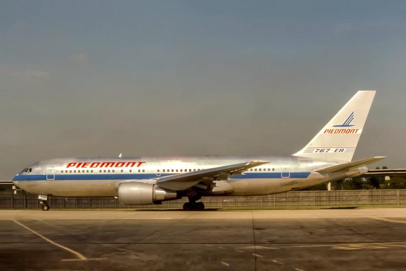 Piedmont Airlines, N608P, Boeing 767-201(ER), msn 23900, Photo by J. Fernandez Collection, Image P067LGJF