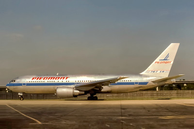 Piedmont Airlines, N608P, Boeing 767-201(ER), msn 23900, Photo by J. Fernandez Collection, Image P067LGJF