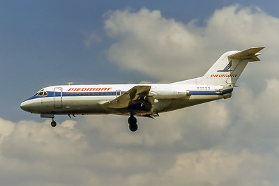 Piedmont Airlines, N283N, Fokker F-28-1000, msn 11035, Photo by Nigel Chalcraft, Image F010LANC