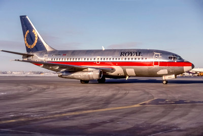 Royal Airlines, C-FRYH, Boeing 737-201A, msn 21816, Photo by Stephen Tornblom Collection, Image J187RGSO