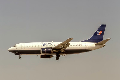 Shuttle by United, N390UA, Boeing 737-322, msn 24665, Photo by J. Fernandez Collection, Image K153LAJF