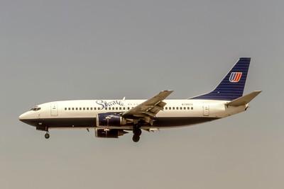 Shuttle by United, N390UA, Boeing 737-322, msn 24665, Photo by J. Fernandez Collection, Image K153LAJF