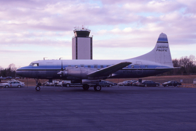 Sierra Pacific Airlines, N73153, Convair CV-580, msn 179, Photo by John A. Miller, GSO, Image CV017LGJM
