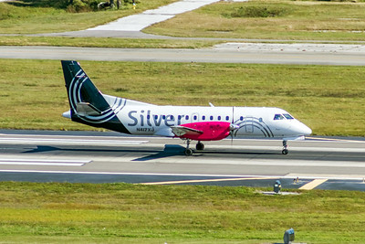 Silver Airways, N417XJ, Saab 340B, msn 340B-417, Photo by John A Miller, TPA, Image GG007RGJM