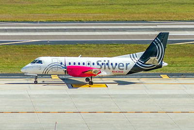 Silver Airways, N343AG, Saab 340B, msn 340B-443, Photo by John A Miller, TPA, Image GG006LGJM