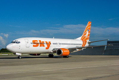 Sky Airlines, N350AT, Boeing 737-4Q8, msn 25163, Photo by John A. Miller, TPA, Image L001LGJM