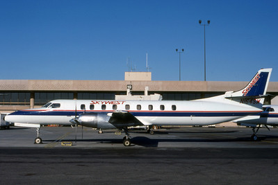 Skywest Airlines, N164SW, Swearingen SA-227AC METRO III, msn AC503, Photo by Nigel Chalcraft, Image AI002LGNC