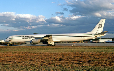 Southern Air Transport, N875SJ, Douglas DC-8-73(F), msn 46063, Photo by John A. Miller, GSO, Image B023LGJM