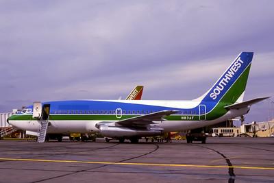 Southwest, N83AF, Boeing 737-2T4Adv, msn 22699, Photo by Adrian J Smith, Image J034LGAS