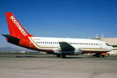 Southwest, N722ML, Boeing 737-2T4Adv, msn 22698, Photo by Brian Shane, Image J129RGBS