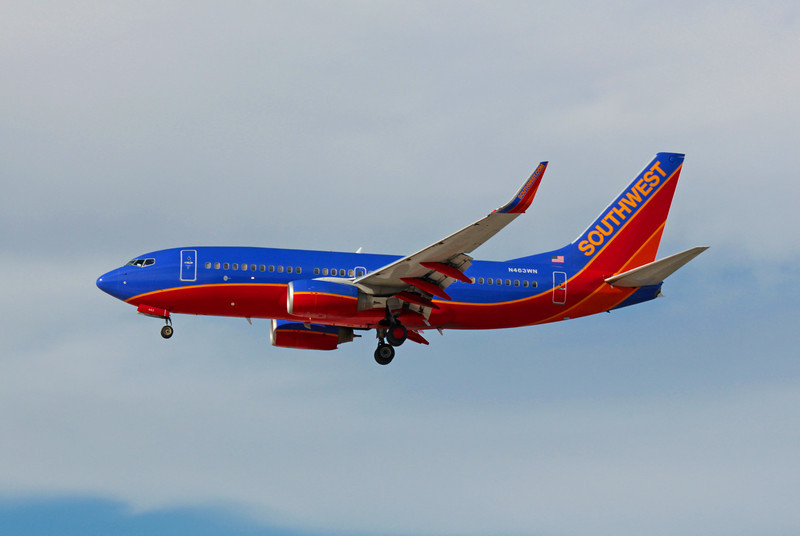 Southwest Airlines, N463WN, Boeing 737-7H4, msn 32467, Photo by John A. Miller, LAS, Image TT013LAJM