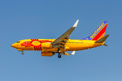 Southwest Airlines, N781WN, Boeing 737-7H4(WL), msn 30601, Photo by John A Miller, TPA, Image TT170LAJM, New Mexico One, Special Paint Scheme