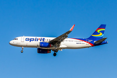 Spirit Airlines, N621NK, Airbus A320-232(WL), msn 5672, Photo by John A Miller, LAX, Image T137LAJM