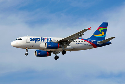 Spirit Airlines, N505NK, Airbus A319-132, msn 2485, Photo by John A. Miller, LAS, Image: AB009LAJM