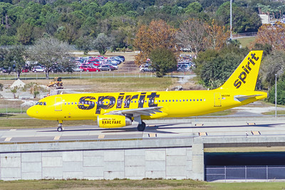 Spirit Airlines, N601NK, Airbus A320-232, msn 4206, Photo by John A Miller, TPA, Image T122LGJM