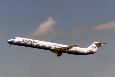 Spirit Airlines, N808NK, McDonnell Douglas MD-82,  msn 49504, Photo by J. Fernandez, Image D084LAJF
