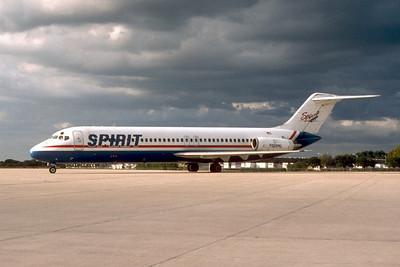 Spirit Airlines, N928ML, Douglas DC-9-31, msn 47326, Photo by John A. Miller, TPA,  Image C099LGJM