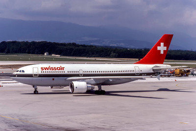 SwissAir, HB-IPF, Airbus A310-322, msn 399, Photo by Eddy Gual, Image S012LGEG