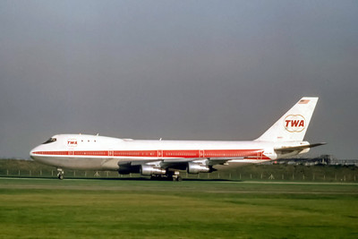 TWA, N93107, Boeing 747-131, msn 19673, Photo by Photo Enrichments Collection, Image M098LGSP