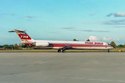 TWA, N905TW, McDonnell Douglas MD82, msn 49157, Photo by John A Miller, TPA, Image D074RGJM