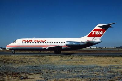 TWA, N969Z, Douglas DC-9-15, msn 47001, Photo by Andrew Abshier, BNA, Image C007LGAA