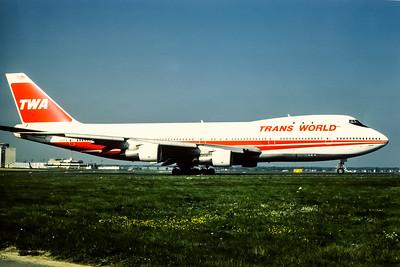 TWA, N133TW, Boeing 747-156, msn 19957, Photo by Udo Schaefer, Image M014RGUS