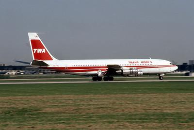 TWA, N8735, Boeing 707-331B, msn 20064, Photo by Andrew Abshier, Image H003RGAA