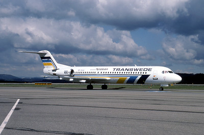 Transwede Airlines, PH-KZE, Fokker F28-0100, msn 11330, Photo by Photo Enrichments Collection, Image G014RGJC