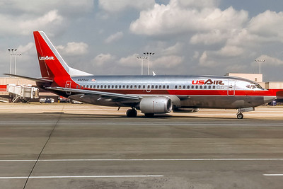 USAir, N520AU, Boeing 737-3B7, msn 23706, Photo by Frank Hines, ATL, Image K104RGFH