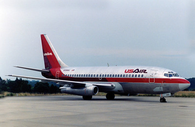 USAir, N269AU, Boeing 737-2B7, msn 22881, Photo by John A. Miller, GSO, Image J099RGJM
