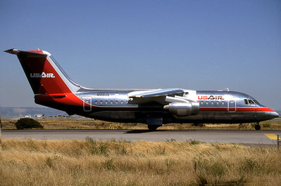 USAir, N166US, Bae-146-200A, msn 2024, Photo by Photo Enrichments Collection, Image W017RGJC