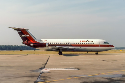 USAir, N1129J, BAC 111-204AF,  msn 182, Photo by Photo Enrichments Collection, Image V019RGJC