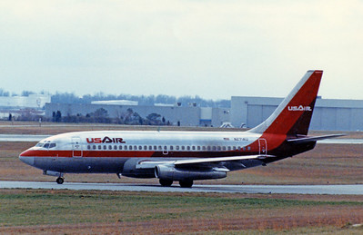 USAir, N271AU, Boeing 737-2B7Adv, msn 22883, Photo by John A. Miller, GSO, Image J005LGJM