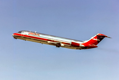 USAir, N918VJ, Douglas DC-9-31, msn 48138, Photo by Joe Fernandez Collection, ORD, Image C123LAJF