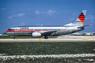 USAir, N355AU, Boeing 737-3B7, msn 22955, Photo by Wayne Brown, Image K020LGWB