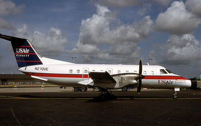 USAir Express, N270UE, Embraer Brasilia EMB-120RT, msn 120026, Photo from Photo Enrichments Collection, Image NN005RGJC